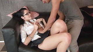 Gorgeous brunette Shannon Kelly in real hard fuck video