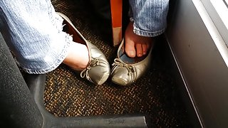 Co-worker takes my wife silver flats out to lunch