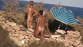 Banging Crazy nudists on the beach