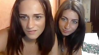 TweetyBirds: two cute lesbians playing with a dildo