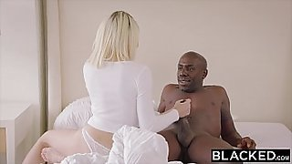 BLACKED My black step father