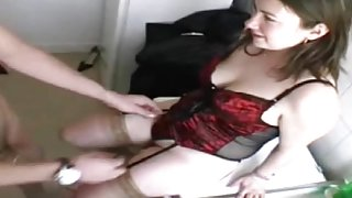 Cheating wife Emy anal fucked in stockings