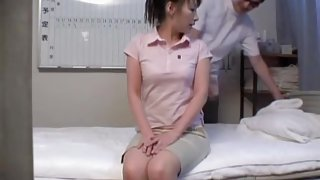 Nude Japanese girl sprayed in hidden camera massage video