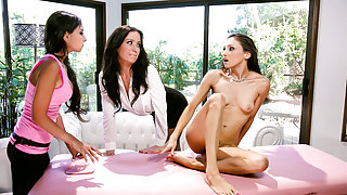 Trinity St. Claire & Celeste Star & Angela Sommers in The Campaign Trail - AllGirlMassage