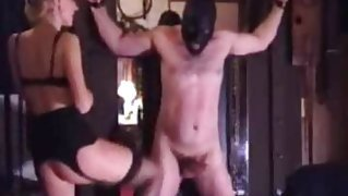 Extreme dominatrix bizarre balls kicking fetish
