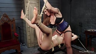 Property of Mistress Kara: Ingrid Mouth bound, beat & anally pounded!