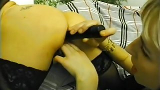 Busty Lesbians in First Strap on Sex