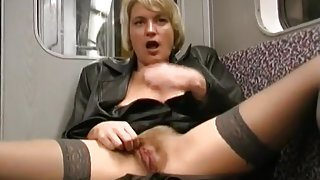 Dirty Mature Tart Flashes On The Train