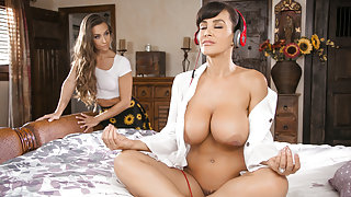 Lisa Ann & Cassidy Klein in Mommy's Meditation Video