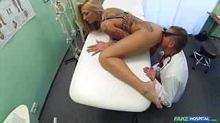 Kayla in Dirty doctor steps in to cure sexy patients claustrophobia with his medicinal cock - FakeHospital